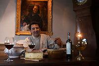 Europe/France/Rhône-Alpes/74/Haute Savoie/Avoriaz: Jean-Luc Woehl dans son restaurant: La Salle à Manger du Garde-Manger [Non destiné à un usage publicitaire - Not intended for an advertising use]