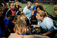 Seattle, WA - Wednesday, June 28, 2017: Seattle Reign FC, Laura Harvey during a regular season National Women's Soccer League (NWSL) match between the Seattle Reign FC and the Chicago Red Stars at Memorial Stadium.
