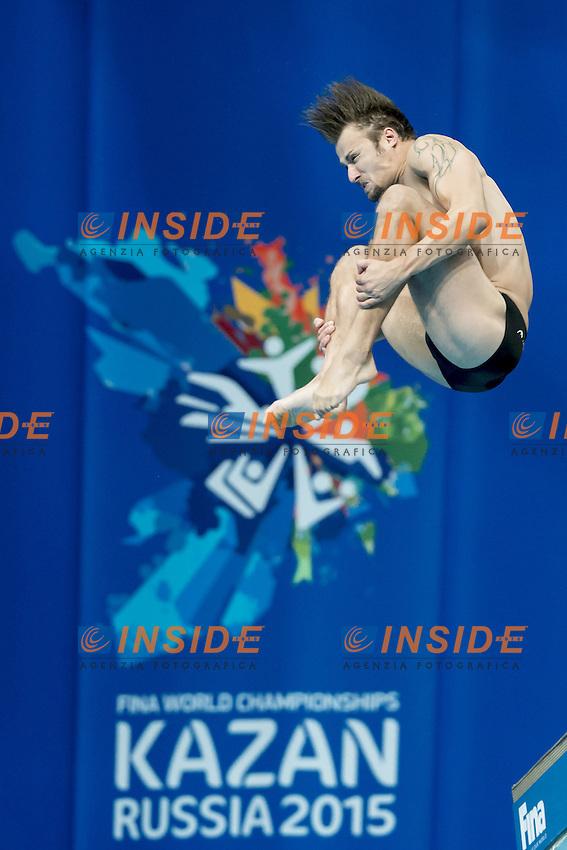 KLEIN Sascha GER<br /> 10m. Platform Men preliminaries<br /> Day09 01/08/2015 Tuffi - Diving Aquatic Palace <br /> XVI FINA World Championships Aquatics Swimming<br /> Kazan Tatarstan RUS July 24 - Aug. 9 2015 <br /> Photo G.Scala/Deepbluemedia/Insidefoto