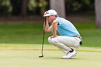 30th May 2021; Fort Worth, Texas, USA;  Patton Kizzire lines up his putt on the 8th green during the final round of the Charles Schwab Challenge on May 30, 2021 at Colonial Country Club in Fort Worth, TX.