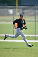 Miami Marlins Alexander Fernandez (8) during practice before a minor league Spring Training intrasquad game on March 31, 2016 at Roger Dean Sports Complex in Jupiter, Florida.  (Mike Janes/Four Seam Images)