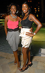 Brandi Murphy and Carnesha Allen at the Park Place pool party Saturday night June 20, 2009.(Dave Rossman/For the Chronicle)