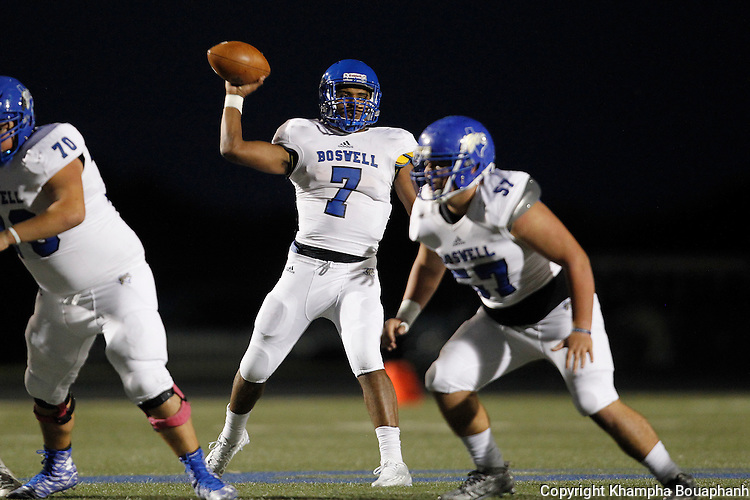 Boswell plays Brewer in district 5-5A high school football in Fort Worth on Friday, October 16, 2015.