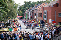 up the Wijnpersstraat<br /> <br /> Elite Men World Championships - Road Race<br /> from Antwerp to Leuven (268.3km)<br /> <br /> UCI Road World Championships - Flanders Belgium 2021<br /> <br /> ©kramon