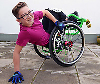 Pictured: Lily Rice.<br /> Re: Wheelchair wizard Lily Rice is ramping up the action as the star of a new Christmas video from top singer-songwriter Tom Fletcher.<br /> Thirteen-year-old Lily, from Manorbier, recently propelled herself to fame as the first female in Europe to land a backflip in a wheelchair.<br /> Her skill in the fast-growing sport of WCMX (wheelchair motocross) is showcased in the tear-jerking video from McFly's Tom Fletcher which was released on Friday.<br /> The song, Afraid of Heights is from the musical edition of Tom's book, The Christmasaurus, and was shot on location in Pembrokeshire in St Ishmaels and Haverfordwest skatepark just three weeks ago.