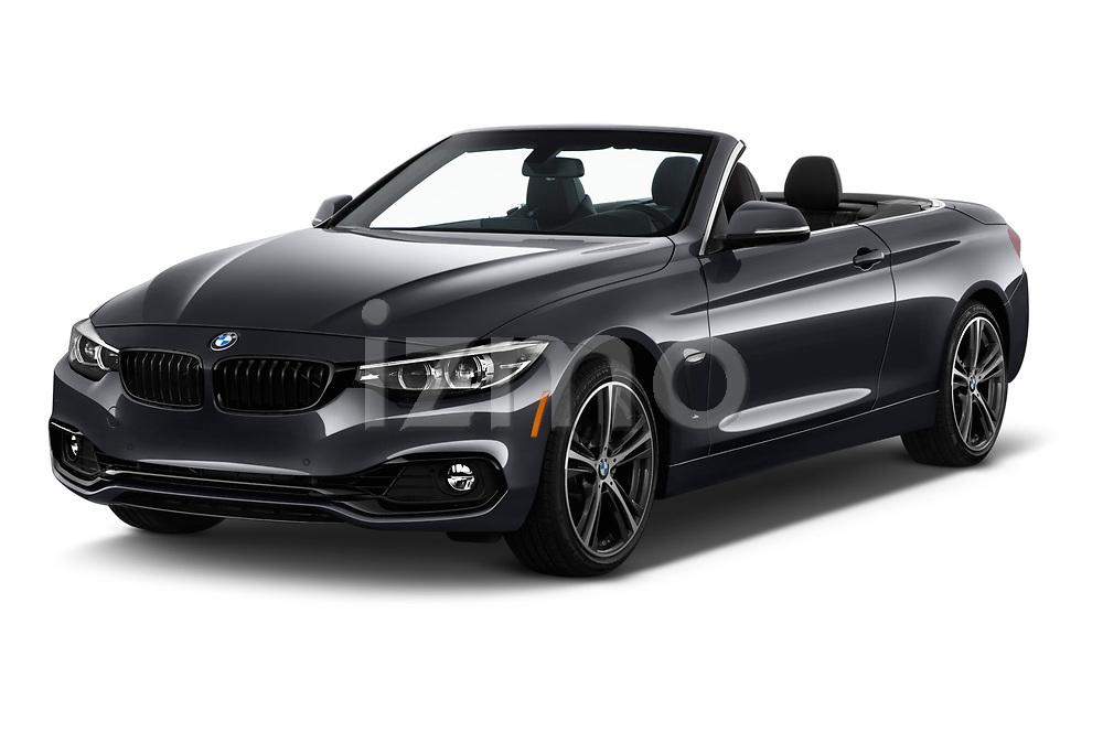 2020 BMW 4 Series 430i 2 Door Convertible angular front stock photos of front three quarter view
