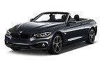 2020 BMW 4 Series 430i 2 Door Convertible angular front stock photos of front three quarter view