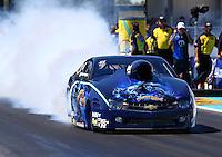 Sept. 22, 2013; Ennis, TX, USA: NHRA pro stock driver Rodger Brogdon during the Fall Nationals at the Texas Motorplex. Mandatory Credit: Mark J. Rebilas-