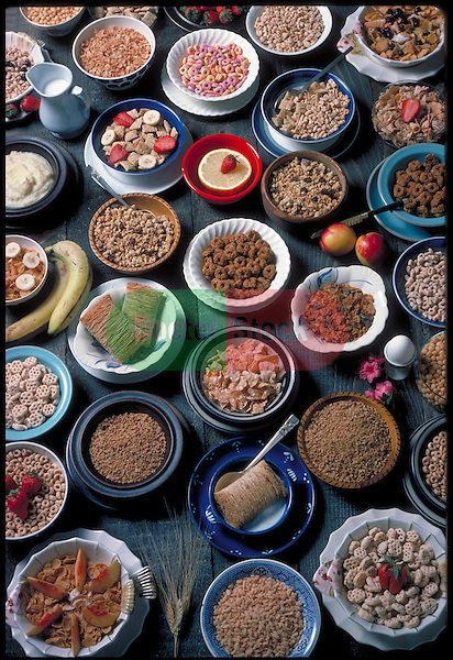array of bowls of cereals and grains