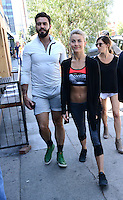 Julianne Hough + Lorrenzo Martone @ celebrates the west coast debut of her new clothing collection for athleisure brand held @ the Martone cycling co. & friends.<br /> April 4, 2016