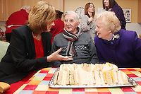 """NO REPRO FEE. 21/11/2011. New Alzheimer Day Centre at full capacity as demand for Alzheimer services grow. Minister for Social Protection Joan Burton T.D. officially opened """"Failte Day Centre"""", which will provide dementia-specific, person-centred care to people with dementia and their carers in Hartstown, Clonsilla. The Minister is pictured with client Tim Canavan and wife Mary from the Navan Rd. The Alzheimer Society of Ireland, in partnership with the HSE, is currently operating 3 days a week caring for clients living with dementia who live in Castleknock. Picture James Horan/Collins Photos"""
