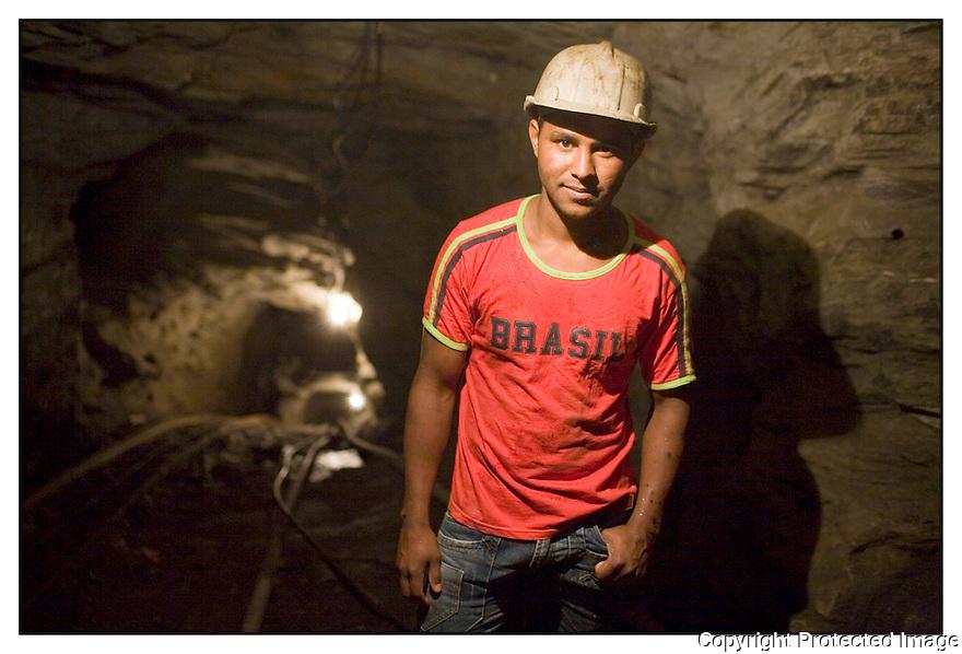 Brésil<br /> Nova Era<br /> Mine d'Emeraude.