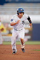 Tampa Yankees catcher Sharif Othman (62) running the bases during a game against the Fort Myers Miracle on April 12, 2017 at George M. Steinbrenner Field in Tampa, Florida.  Tampa defeated Fort Myers 3-2.  (Mike Janes/Four Seam Images)