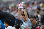 SHA TIN,HONG KONG-MAY 07: The fan celebrates Lucky Bubbles's winning for the Chairman's Sprint Prize at Sha Tin Racecourse on May 7,2017 in Sha Tin,New Territories,Hong Kong (Photo by Kaz Ishida/Eclipse Sportswire/Getty Images)
