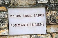 Maison Louis Jadot, Rugiens. Pommard, Cote de Beaune, d'Or, Burgundy, France