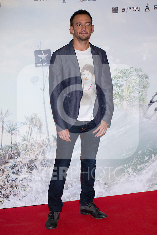 08.10.2012. Celebrities attend the premiere of Kinepolis Cinema in Madrid of the movie 'The Impossible'. Directed by Juan Antonio Bayona and starring by  Naomi Watts and Tom Holland. In the image Alejandro Amenabar (Alterphotos/Marta Gonzalez)