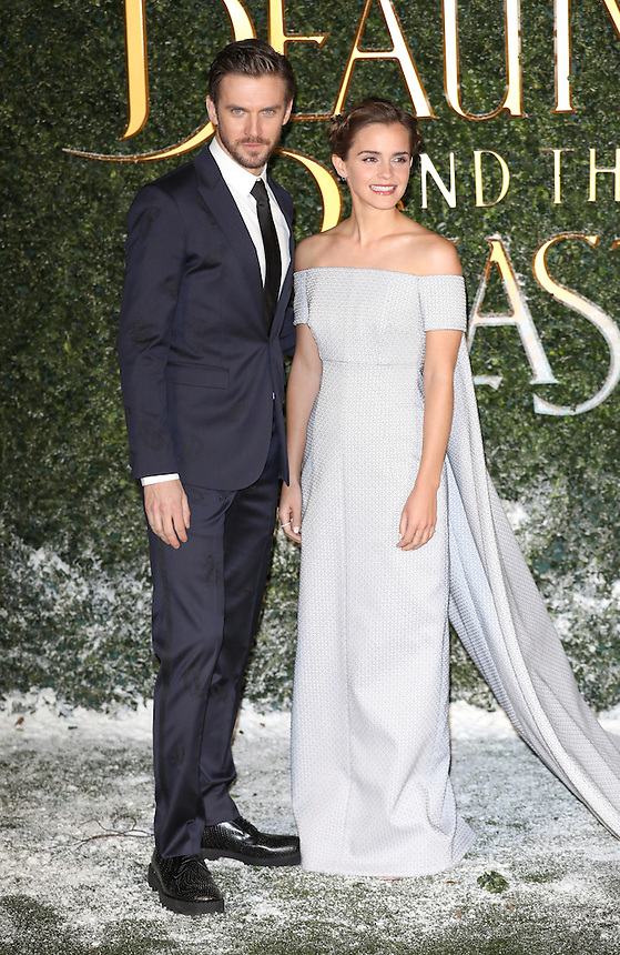 "Dan Stevens and Emma Watson<br /> arrives for the ""Beauty and the Beast"" screening, St.James', London.<br /> <br /> <br /> ©Ash Knotek  D3234  23/02/2017"