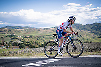Lizzie Deignan (GBR/Trek-Segafredo) up the Cima Gallisterna Climb (2.3km @ 7%) <br /> <br /> Women's Elite Road Race from Imola to Imola (143km)<br /> <br /> 87th UCI Road World Championships 2020 - ITT (WC)<br /> <br /> ©kramon