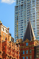 america,New York,  Manhattan, historical building comparison to new architecture