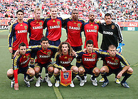 Real Salt Lake Starting 11 in the 2-2 draw between Real Salt Lake and the Los Angeles Galaxy on May 3, 2008 at Rice-Eccles Stadium in Salt Lake City, Utah