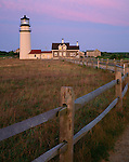 Cape Cod National Seashore, MA: Highland Light - renamed Cape Cod Light and the Queen Anne style keeper's house at dawn