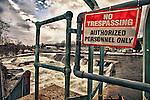 No tresspassing sign at Shelburne Falls