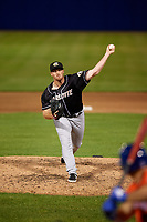 Charlotte Knights pitcher Caleb Frare (13) during an International League game against the Syracuse Mets on June 11, 2019 at NBT Bank Stadium in Syracuse, New York.  Syracuse defeated Charlotte 15-8.  (Mike Janes/Four Seam Images)