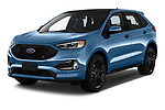 2019 Ford Edge ST 5 Door SUV angular front stock photos of front three quarter view