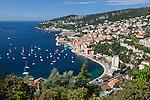 France, Provence-Alpes-Côte d'Azur, Villefranche-sur-Mer: bay and harbour | Frankreich, Provence-Alpes-Côte d'Azur, Villefranche-sur-Mer: Bucht und Hafen