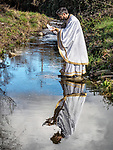 Blessing of Jackson Creek, January 19, 2018: Theophany and the Blessing of the Waters on January 6th of the old calendar at St. Sava Church, Jackson, Calif. on a wet and rainy day.<br /> <br /> With Fr. Marko Boljovic