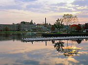 Exeter, New Hampshire at sunrise, which is part of the New England  USA