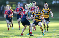 Saturday 4th February 2017 | RBAI vs BALLYCLARE HIGH SCHOOL<br /> <br /> Roy Chestnutt during the Ulster Schools' Cup clash between RBAI and Ballyclare High School at  Cranmore Park, Belfast, Northern Ireland.<br /> <br /> Photograph by www.dicksondigital.com