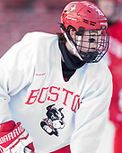 Johnny McDermott (BU - 28) - The Boston University Terriers practiced on the rink at Fenway Park on Friday, January 6, 2017.The Boston University Terriers practiced on the rink at Fenway Park on Friday, January 6, 2017.
