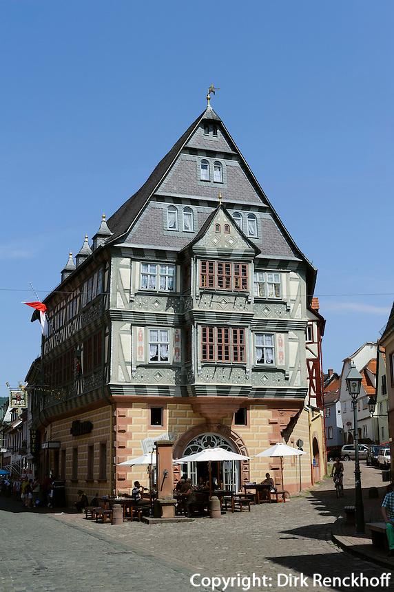 """Gasthaus """"Zum Riesen"""",  Ältestes Gasthaus Deutschlands, Hauptstr.99, Miltenberg in Unterfranken, Bayern, Deutschland"""