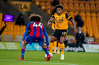 30th October 2020; Molineux Stadium, Wolverhampton, West Midlands, England; English Premier League Football, Wolverhampton Wanderers versus Crystal Palace; Adama Traoré of Wolverhampton Wanderers tries to get past Jaïro Riedewald of Crystal Palace