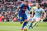 Paulinho Maciel of FC Barcelona (L) fights for the ball with Gustavo Daniel Cabral of RC Celta de Vigo (R) during the La Liga 2017-18 match between FC Barcelona and RC Celta de Vigo at Camp Nou Stadium on 02 December 2017 in Barcelona, Spain. Photo by Vicens Gimenez / Power Sport Images