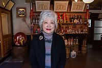 Japan, Okayama Prefecture, Kurashiki. Morita Sake Brewery.  Family run by husband and wife since 1909, in their shop. MR