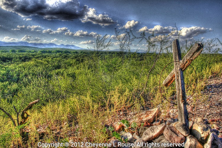 Old grave at Fairbank Townsite - San Pedro River Valley - Southern Arizona