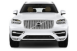 Car photography straight front view of a 2015 Volvo XC90 Inscription7 5 Door SUV Front View