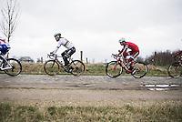 World Champion Peter Sagan (SVK/Bora-Hansgrohe) over the Varent cobbles<br /> <br /> 69th Kuurne-Brussel-Kuurne 2017 (1.HC)