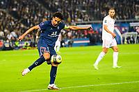 19th September 2021: Le Parc des Princes, Paris, France; French League 1 football Paris Saint Germain versus Olympique Lyonnais:  Marquinhos PSG
