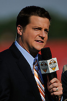 Fox Soccer Channel reporter Mark Rogondino. Sky Blue FC defeated the Boston Breakers 2-1 during a Women's Professional Soccer match at Yurcak Field in Piscataway, NJ, on May 31, 2009.