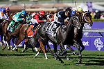 Nov. 03, 2012 - Arcadia, California, U.S - Mizdirection (KY) ridden by Mike Smith and trained by Mike Puype, wins theBreeders' Cup Turf Sprint (Grade I) at Santa Anita Park in Arcadia, CA. (Credit Image: © Ryan Lasek/Eclipse/ZUMAPRESS.com)