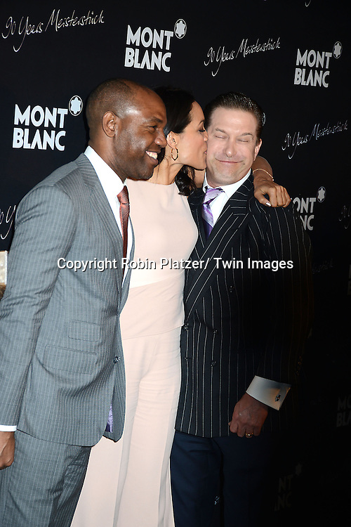 Unik Ernest, Rosario Dawson and Stephen Baldwin attend the party for Montblanc Celebrating  90 Years of the Meisterstuck Fountain Pen on April 3,2014 at Guastavino's in New York City.