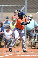 Houston Astros outfielder Ronnie Mitchell (50) during a minor league spring training game against the Detroit Tigers on March 21, 2014 at Osceola County Complex in Kissimmee, Florida.  (Mike Janes/Four Seam Images)