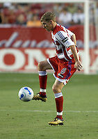 FC Dallas' Ronnie O'Brien plays the ball at Robertson Stadium in Houston, TX on Saturday May 6, 2006. The Houston Dynamo defeated FC Dallas 4-3.