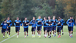 Rangers team at training
