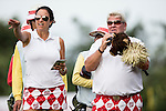 John Daly at the 14th hole of the World Celebrity Pro-Am 2016 Mission Hills China Golf Tournament on 21 October 2016, in Haikou, China. Photo by Victor Fraile / Power Sport Images