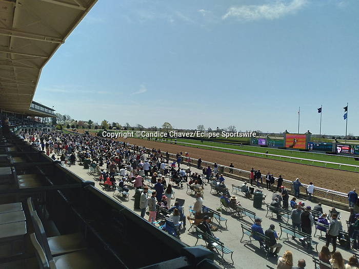 April 03, 2021: Scenes from Blue Grass Stakes Day at Keeneland Race Course in Lexington, Kentucky. Candice Chavez/Eclipse Sportswire/CSM
