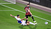 15th September 2020; Vitality Stadium, Bournemouth, Dorset, England; English Football League Cup, Carabao Cup Football, Bournemouth Athletic versus Crystal Palace; James Tomkins of Crystal Palace tackles Jack Stacey of Bournemouth